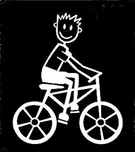 MY STICK FIGURE FAMILY Car Window Vinyl Stickers M17 Male Bicycle Bike