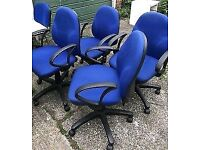 20 x Blue Office Chairs - FREE DELIVERY