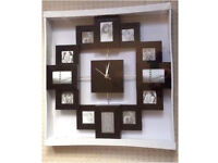 Large family / friends photo clock. Never opened in original plastic was £18