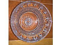 "Tryone Crystal Ashmount 8"" Fruit Bowl (Never Used)"