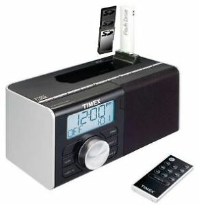 Dual Alarm Clock Radio With AM/FM And MP-3 or iPod