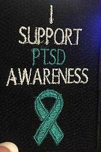 PTSD Awareness, motorcycle patches, Stop the 22