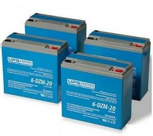 48V eBike Battery Pack - 6-DZM-20 12V 20Ah (4 batteries in total)