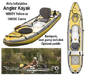 Airis Angler 12'  Inflatable Kayak by Walker Bay