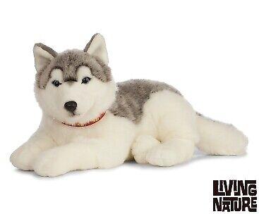 Living Nature Giant Husky Dog Soft Toy