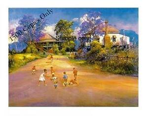 "d'Arcy Doyle Limited Edition signed print ""Backstreet Soccer"" Homeleigh Kyogle Area Preview"