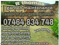 For all your garden maintenance requirements
