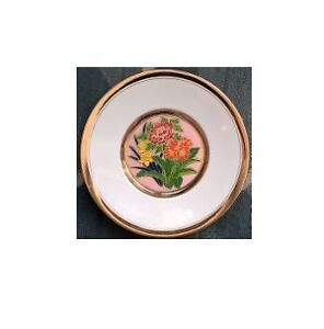 The Art of Cloisonne Flowers Plate
