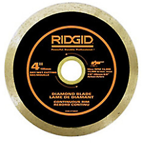 "Tile cutter blade, Ridgid continuous rim 4 3/8"" blade NEW $15"