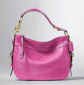 Authentic COACH Zoe Pink Leather Hobo
