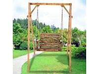 Adult anti-corrosion wooden garden swing.