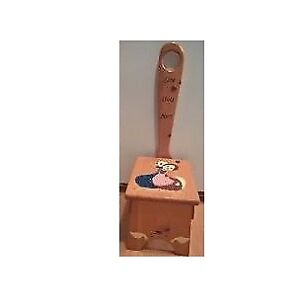 Long Handle Wooden Step Stool