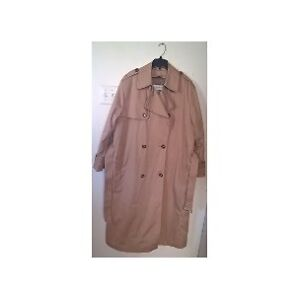 London Fog Double Breasted Trench Coat with Removal Lining