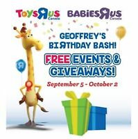 Geoffrey's Birthday Bash Events