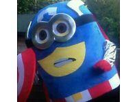 Brand New captain America minion Mascot XXL