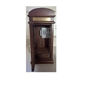 Vintage Wooden Telephone ( Telefono ) Booth Musical Box