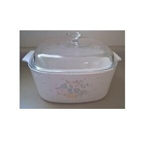Corning Ware Blue Ribbon Flower Basket Dutch Oven
