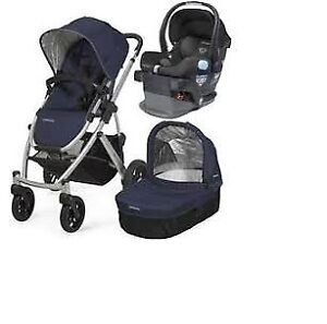 Uppababy Vista Stroller-bassinet-stand-car seat-adapter