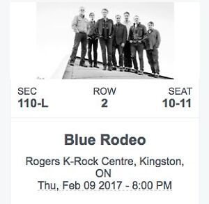 Blue Rodeo two tickets