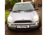 RARE lovely silver 2003 Mini One Automatic ONLY 74000mls Lady driver stunning car very desirable car