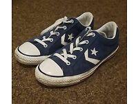 Blue Suede Converse Size 6