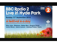 2 tickets in hand ready to post !!! BBC radio 2 Hyde park festival