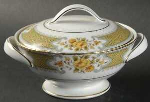 Complete Noritake Autumn Rose dishes for 8 and serving set