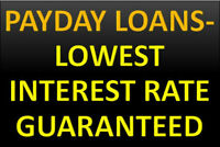 PAYDAY LOANS ONLY AT 15% INTEREST RATE