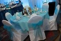 Chair covers, tablecloths, runners, overlays, sashes, napkins...