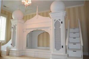 PRINCESS JASMINE PALACE Bunk Bed / Loft Bed & Play House !!