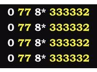 0 77 8* 333332 Gold Vodafone Mobile Phone Number Sim Card