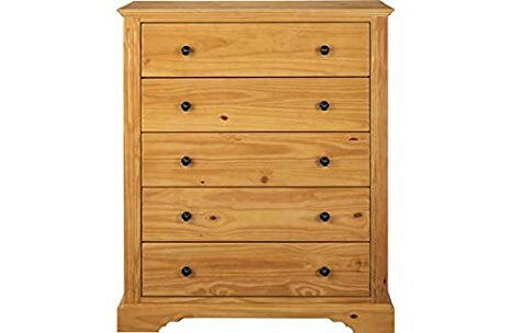 Heart of House Warwick 5 Drawer Chest - Oak Effect.