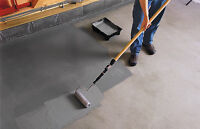 Concrete floor patch ups and painting