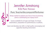 Singing Lessons for all ages and Stages! Trial lessons available at request!