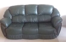 Leather lounge and 2 recliner chairs Merrimac Gold Coast City Preview
