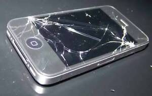 Broken cell phones ( cracked screens won't turn on etc.)