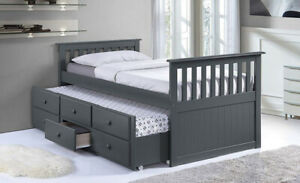 Captains Bed with roll out Trundle Bed