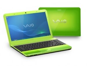 Green Sony Vaio with bluray drive