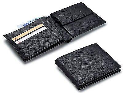 Volkswagen New Genuine Leather Men's Wallet Black 000087400F 041 VW embossed