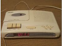 Bush Clock Radio With Cassette Player CRC598 in white