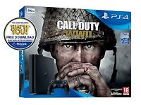 Playstation 4 Slim / COD WW2 / Turtle Beach Gaming Headset / FREE game download