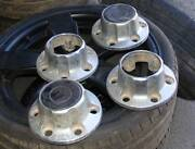 CHROME 6 STUD CENTRE CAPS 4 Holden Rodeo 4X4 FORD MAZDA Mardi Wyong Area Preview