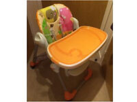 Chicco Polly highchair used a lot