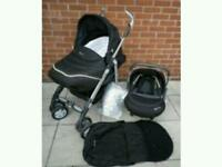 Silver cross 3d pram travel system and car seat