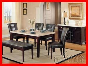 Real Marble Pub/Regular Height Dinette Sets @ Yvonne's Furn