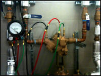 Backflow device testing ( Cross connection device testing )