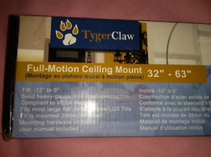 """Brand New Tygerclaw TV full motion CEILING mount 32"""" - 63"""""""