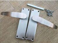 Door/ bathroom lock handles with fitting
