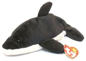 Splash the whale Ty Beanie Baby stuffed animal - 4th generation