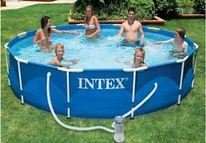 INTEX 12 Foot Metal Framed Above Ground Pool plus Extras Innisfail Cassowary Coast Preview